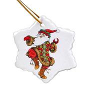 Новогодние игрушки. Нанесение на керамические подвески новогодних рису